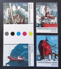 2003 AAT Decimal Stamps - AAT Antarctic Ships - Set 4-A115-A117 Gutter MNH