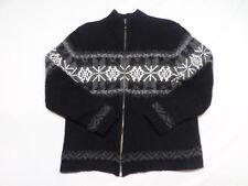 Croft & Barrow Silk Nylon Angora Full Zip Sweater Women's Size L