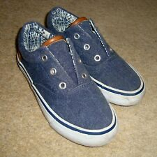 Boy's MATALAN Casual Trainers 12 UK  Blue Denim Shoes Pumps Slip On