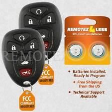 2 For 2009 2010 2011 2012 Chevrolet Malibu 5b Keyless Entry Remote Car Key Fob