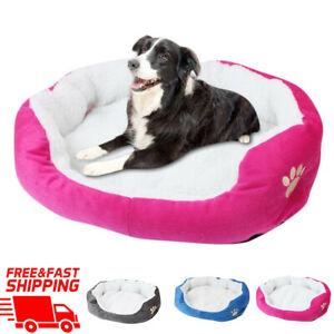Bed Dog Pet Cat Warm Soft Kennel Large Mat Puppy Plush Sleeping Calming Cushion