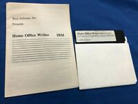 Home Office Writer IBM PC XT AT 1987 Real Software Disk w/ manual
