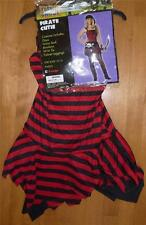 NWT Girls PIRATE CUTIE costume Size 12/14 Dress Up Red black tights buccaneer