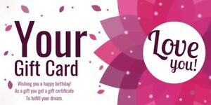 Personalised Custom Gift Card Voucher Printed 16 x 8 cm, Single Sided
