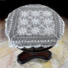 """Home Vintage Crochet Christmas Placemat Table Runner 31""""x31"""" White Tablecloth"""