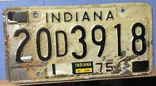 Indiana 1975 License Plate
