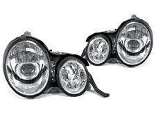 DEPO Chrome Housing Projector Headlight For 1996-1999 Mercedes Benz E Class W210
