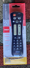 New listing Rca 2 Device Big Button Universal Remote Control - Tv - Blu Ray - Dvd