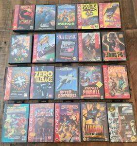 20 Sega Genesis Video Game Boxes Empty for Display Storage Cartridges Retro Art