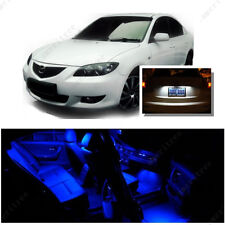 For Mazda 3 2003-2009 Blue LED Interior Kit + Xenon White License Light LED