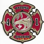"""Ottawa  Station-41, Ontario, Canada  """"Eagleson"""" (4"""" x 4"""" size) fire patch"""