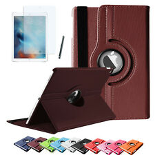 Edle 360° Grad Smart Cover iPad Air 2 iPad 6 Schutz Hülle+Folie Tasche Case Etui