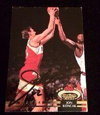 JON KONCAK 1992 1993 TOPPS STADIUM CLUB Autographed Signed BASKETBALL Card 60