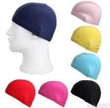 Easy Fit Unisex Adult Swimming Cap Hat Mens Womens Pool Sea Spandex Fabric 1Pc
