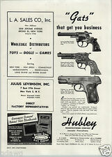 1947 PAPER AD Hubley Toy Gun Rifle Cap Guns Rodeo Texan Jr. Army 45 Toys