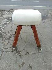 More details for old school  pommel horse vaulting gym gymnasium retro furniture vintage