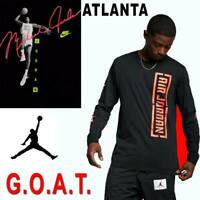 AIR JORDAN JUMPMAN GOAT BASKETBALL SHIRT CITY FLIGHT JUMP SIGNATURE NEON TEE