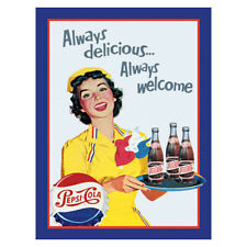 More details for pepsi cola advert metal sign advertising wall garage kitchen shed wall fizz pop