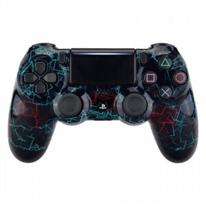 Glossy Neon Frame Custom UN-MODDED Controller Exclusive Design CUH-ZCT2 for PS4