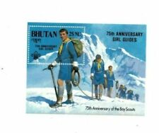 Bhutan 1986 563 - Boy Scouts Ovpt - Souvenir Sheet - MNH