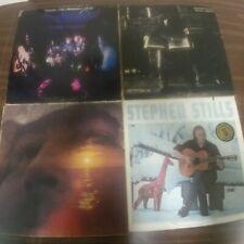 4 CROSBY STILLS NASH & YOUNG Vinyl Record LP Lot GRAHAM 4 WAY STREET FOLK ROCK