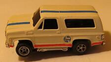 AFX Chevy Blazer, Customized, White with Stripes, Magnatraction #1917