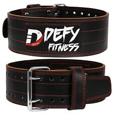 DEFY Weightlifting Leather Power-lifting Back Support Gym Crossfit Training Belt
