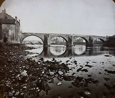 Twa Brigs 'O'Ayr (Bridge), Scotland, Magic Lantern Glass Photo Slide