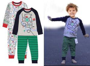 2 x Boys pyjamas pack baby MOTHERCARE 12 18 24 m 2 3 4 5 6 y cars kids nightwear