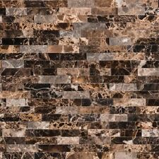 EMPERADOR SPLITFACE Interlocking 3D Peel Stick Mosaic Tile Backsplash Bathroom