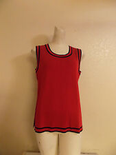 Exclusively Misook Red And  Black Sleeveless  Cami Top Size M / L