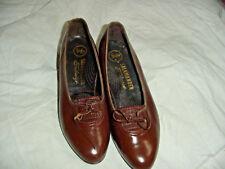 60's Vintage Brown Leather Salamander Low Heel Shoes