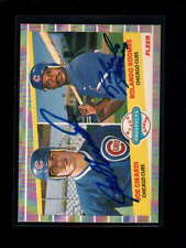1989 FLEER #644 J. GIRARDI/R. ROOMES RC ON CARD AUTOGRAPH SIGNATURE AU4637