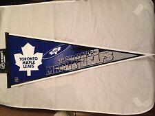 Toronto Maple Leafs NEW 12x30 Team Pennant . NHL Hockey Fan Decor Gift Flag