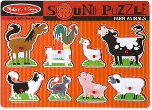 Melissa & Doug - Farm Animals Sound Puzzle 8pc