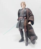 "SU-R-TN: Dark Brown Wired Jedi Fabric Robe for 6"" Star Wars Anakin (No Figure)"
