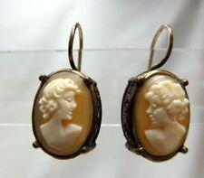 "Extasia Designer Cameo Earrings 1"" x .5"""