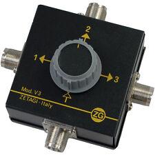 ZETAGI V 3 Antennenschalter 3-fach, Neu + OVP