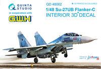 Quinta QD48062 1/48 Su-27UB 3D-Printed & coloured interior for GWH kit