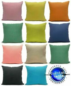 Waterproof Garden Cushion or Cover Furniture Outdoor Indoor Seats PLAIN Cushions