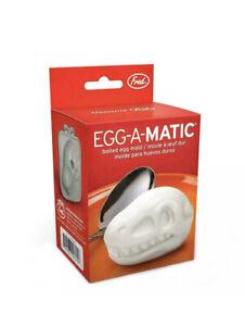2 X FRED EGG-A-MATIC Dinosaur Skull Boiled Egg Mould. Novelty Gift. Prehistoric