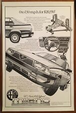 Vintage Alfa Romeo Milano Original Dealer Poster