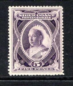 Niger Coast Protectorate QV 1894  5d. Deep Violet SG55a M/Mint