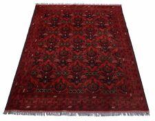 Afghan Khal Mohammadi 225 x 171 cm Handgeknüpfter Orientteppich dunkel rot