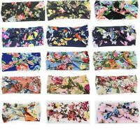 Women Girl Soft Floral Turban Twist Headband Head Wrap Twisted Knotted Hair Band
