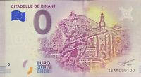 BILLET 0  EURO  CITADELLE DE DINANT BELGIQUE  2018  NUMERO 100