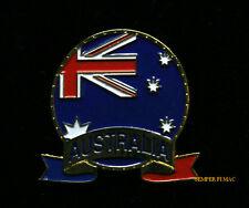AUSTRALIAN HAT LAPEL VEST PIN UP TIE TAC AUSTRALIA FLAG GIFT TRADE SOUVENIR WOW