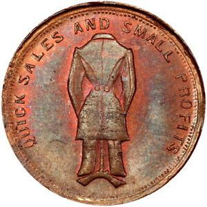 Sidney Ohio Civil War Token Jason McVay PCGS MS64 Rare Merchant This Nice