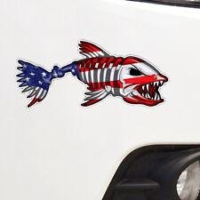Bone Fish USA American Flag Car Sticker Funny Bumper Window Accessories Decal