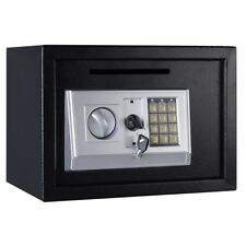 "14"" Digital Depository Drop Cash Safe Box Gun Jewelry Home with Lock Black Us"